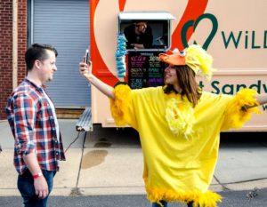 Aubrey Plaza and WiLDWiCH Food Truck Delaware